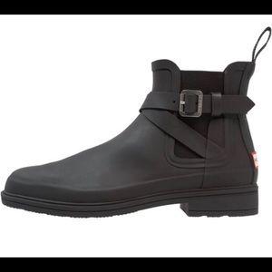 Hunter Festival Black Chelsea rain boots 9us